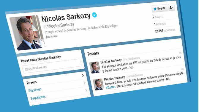 Sarkozy ha obert compte de Twitter de cara a les eleccions franceses.