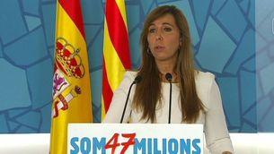 """Sánchez-Camacho ha considerat un """"error històric"""" el pacte de la pregunta."""