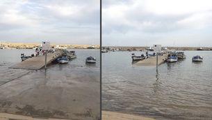 Marea a l'Ampolla el 18 d'agost de 2014 (Albert Segura)