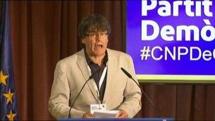 """Puigdemont: """"A tot un poble mobilitzat i decidit no li podran fer ni pessigolles"""""""
