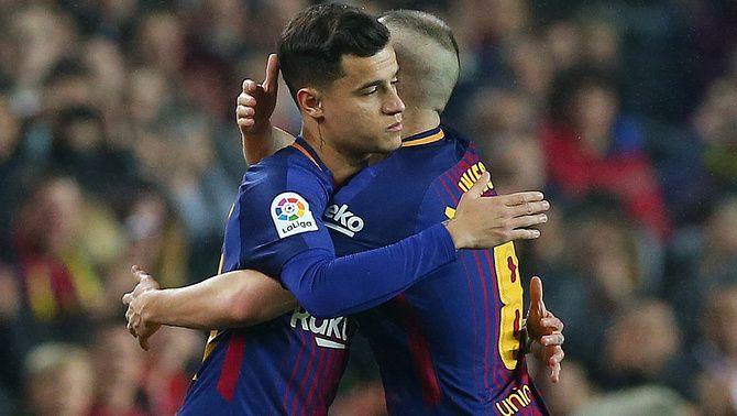 Coutinho deixa molt bones sensacions en el seu debut amb el Barça