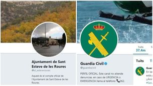 El compte oficial de la Guàrdia Civil ha respost al compte d'un poble fictici: Sant Esteve de les Roures