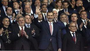 La llotja presidencial a la final de la Copa del Rei (EFE)