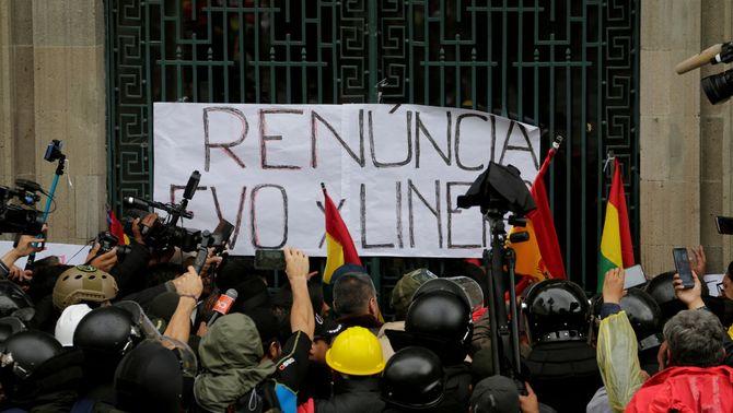 Evo Morales renuncia a la presidència de Bolívia després de les acusacions de frau