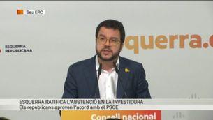 """Pere Aragonès: """"El camí de la negociació és complex, però val la pena emprendre'l"""""""