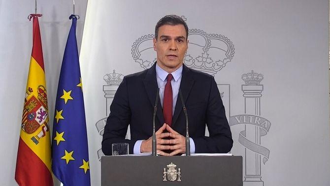 Sánchez pren el control de tot l'Estat per combatre el coronavirus