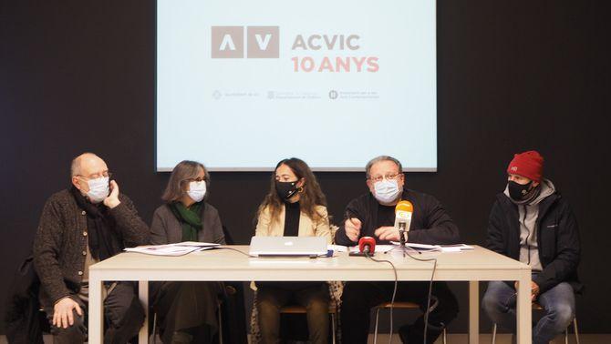 Pla general de la presentació de la programació de l'ACVic. (Horitzontal)