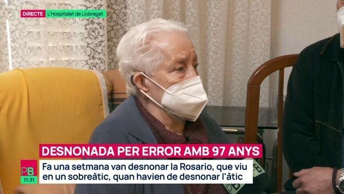 """Desnonada amb 97 anys per error: """"S'ho han emportat tot"""""""