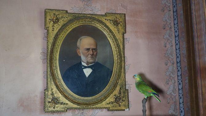 Retrat del rebesavi de la família, el capità Josep Martí
