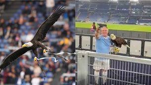 L'ensinistrador de l'àguila de la Lazio, suspès per fer la salutació nazi