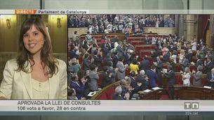El Parlament aprova la llei de consultes per una amplíssima majoria
