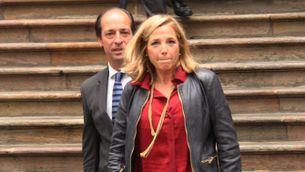 Joana Ortega surt del Tribunal Superior de Justícia de Catalunya