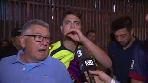 Els aficionats blaugranes, indignats després de la derrota contra el València