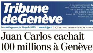 Portada de Tribune de Genève