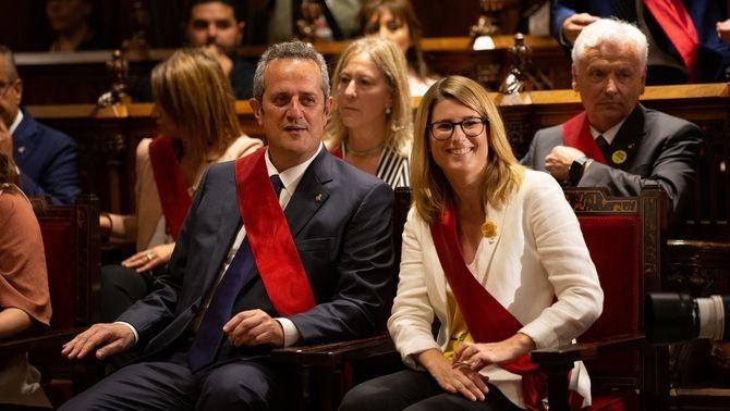 Joaquim Forn i Elsa Artadi, en el ple de constitució de l'Ajuntament de Barcelona