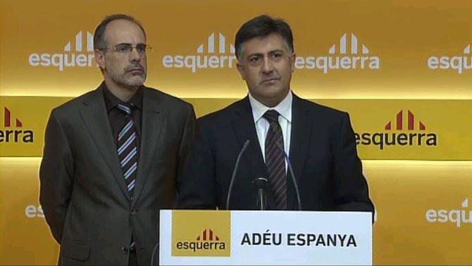 """Puigcercós: """"Nosaltres no acatem la sentència, només la voluntat del poble català"""""""
