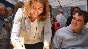 Marta Pascal i David Bonvehí, coordinadora i responsable d'Organització del PDeCAT (ACN)