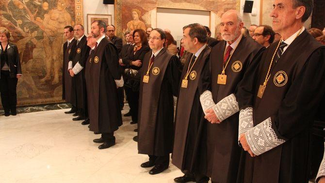 Els membres del Consell de Garanties Estatutàries, el març del 2013 (ACN)