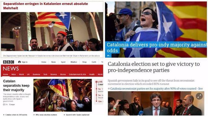 Unanimitat a la premsa internacional: l'independentisme torna a tenir majoria