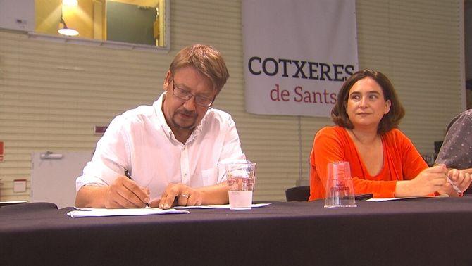 Domènech i Colau, elegits coordinadors generals de la nova executiva de CatComú