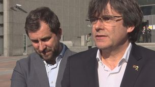 Puigdemont i Comín quan no els van deixar entrar al Parlament Europeu