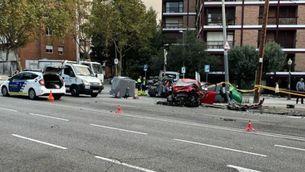 Mor un motorista a la Via Augusta de Barcelona en un accident amb una conductora beguda