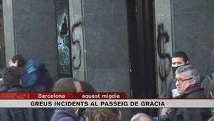 Incidents violents després de la manifestació d'estudiants