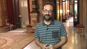 El diputat de la CUP Benet Salellas des del Parlament de Catalunya