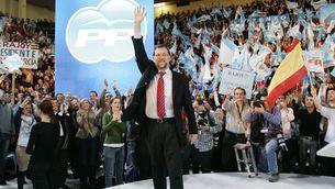 El president espanyol, Mariano Rajoy, durant la campanya electoral del 2008 (Reuters)
