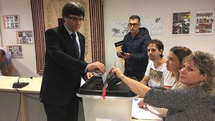 Puigdemont, Forcadell i Junqueras ja han votat