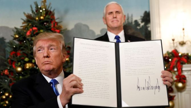 Trump reconeix Jerusalem com a capital d'Israel