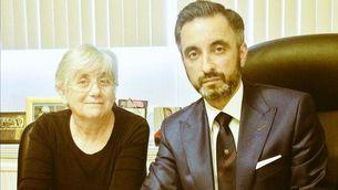 Clara Ponsatí i el seu advocat Aamer Anwar
