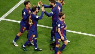 El Barça posa el Sevilla contra les cordes (0-3)