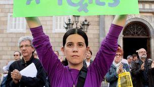 Pancarta en la manifestació de Barcelona contra la sentència de La Manada