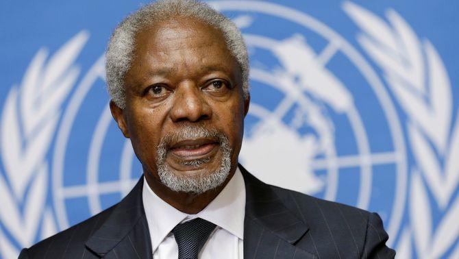 Mor als 80 anys Kofi Annan, ex-secretari general de l'ONU i Premi Nobel de la Pau