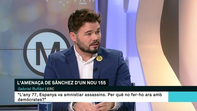 """Gabriel Rufián: """"Proposem una llei d'amnistia"""""""