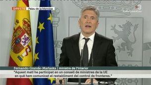 El govern espanyol restableix el control de fronteres terrestres