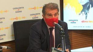 """Laporta: """"S'ha d'intentar convèncer Messi que es quedi"""""""