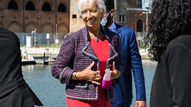 La presidenta del Banc Central Europeu, Christine Lagarde, ha assistit a la reunió del G20 a Venècia (Reuters)