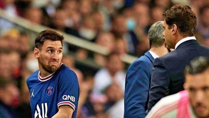 Messi, en el moment del canvi