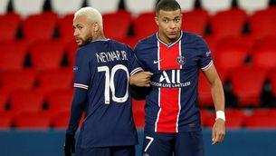 Neymar i Mbappé en un partit amb el PSG. (Foto: EFE)