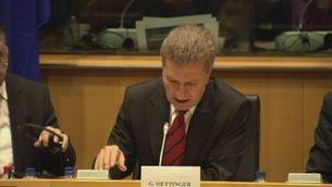 """Oettinger: """"Quan algú parla de l'apocalipsi, crec que és un concepte ben utilitzat"""""""