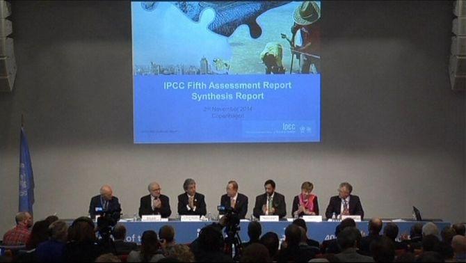 Presentació de l'informe de l'IPCC a Copenhagen.