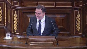 Alfred Bosch, d'ERC, al faristol del Congrés enumerant polítics corruptes o implicats en corrupció