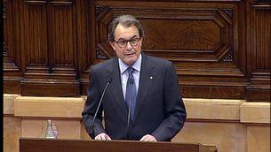 Artur Mas durant el seu discurs en el ple d'investidura