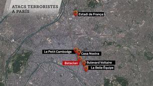 Els sis escenaris dels atemptats de París