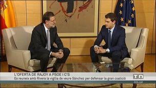 Rajoy fa oferta de govern de coalició a Ciutadans i PSOE