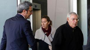 L'ex-director administratiu del Palau Jordi Montull arriba a la Ciutat de la Justícia amb la seva filla Gemma (ACN)