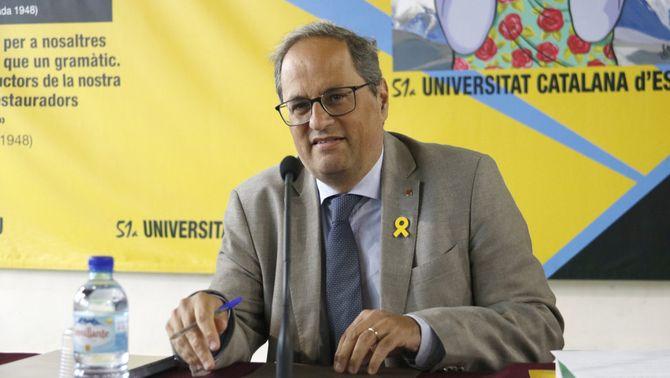 """Torra aposta per una """"confrontació democràtica i pacífica"""" amb l'Estat"""