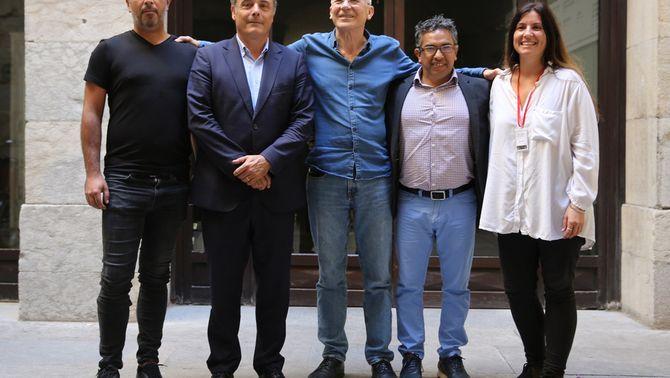 Pla general de les autoritats assistents a la presentació del Festival de Cinema de Girona el 23 de setembre del 2019. (horitzontal)